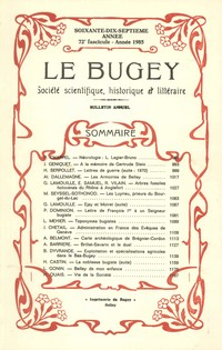 Revue Le Bugey n72