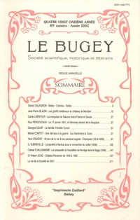 Revue Le Bugey n89