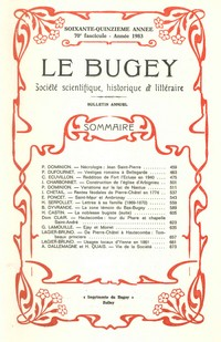 Revue Le Bugey n 70