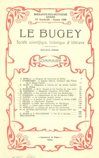 Revue Le Bugey n 73