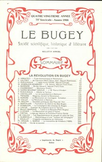 Revue Le Bugey n 75