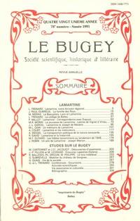 Revue Le Bugey n 78