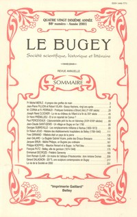 Revue Le Bugey n 88
