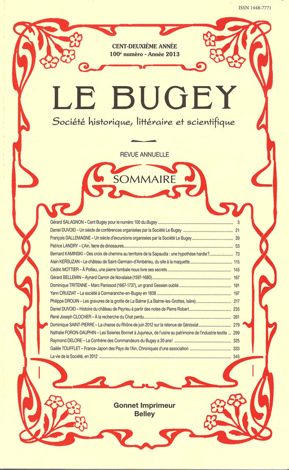 Revue Le Bugey n100