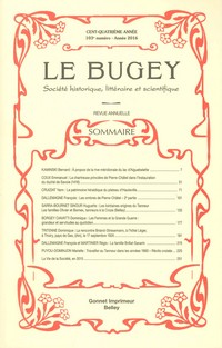 Revue Le Bugey n103